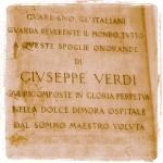 Fondata nel 1896 la struttura venne eretta in stile neogotico dall'architetto Camillo Boito, amico di Verdi, ma al progetto e alla esigenze degli artisti concorse lo stesso Maestro.
